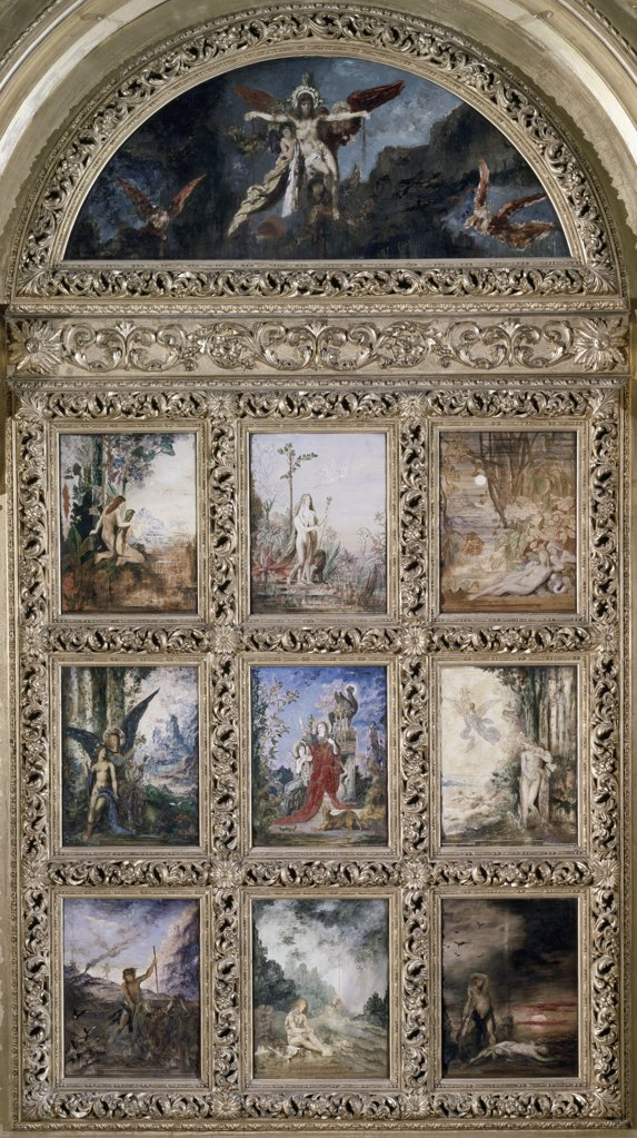 L'humanite Humanity Gustave Moreau (1826-1898 French) Musee Gustave Moreau, Paris, France : Stock Photo