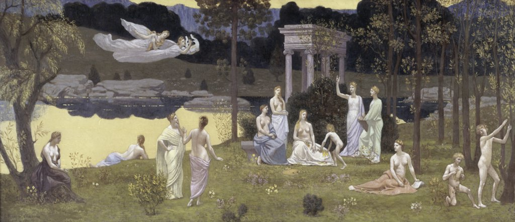 Stock Photo: 1158-1172 The Sacred Forest Beloved by the Arts and Muses 
