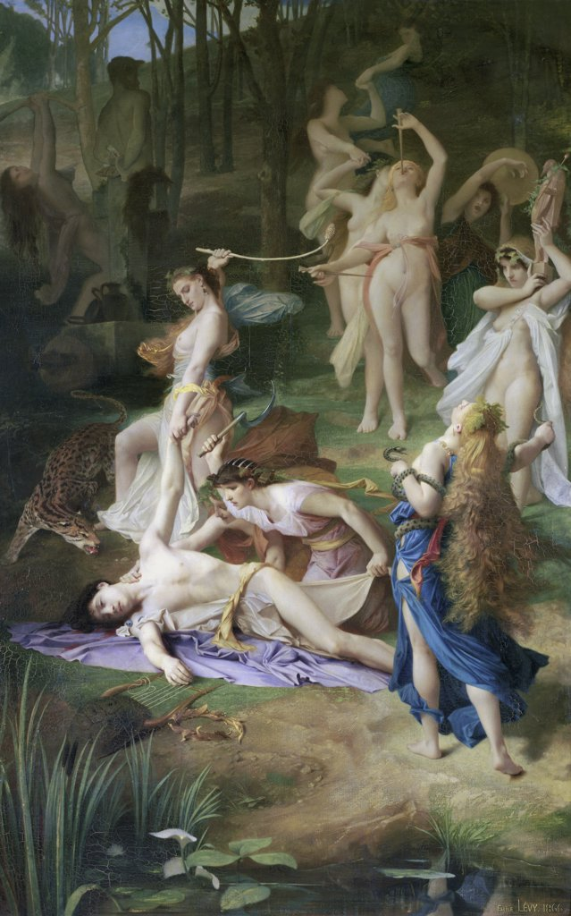 Death of Orpheus by Lucien Lvy-Dhurmen, 1866, 1865-1953, France, Paris, Musee d'Orsay, : Stock Photo
