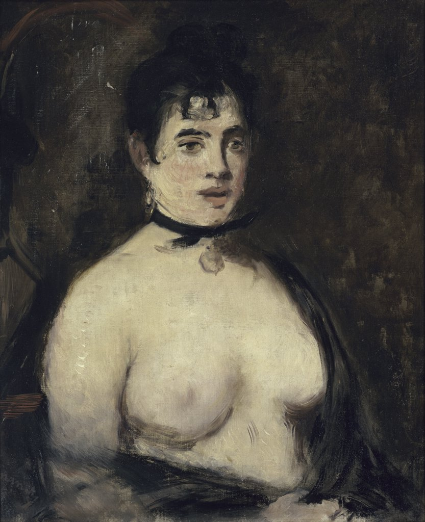 Stock Photo: 1158-1215 Brunette with Naked Breasts 