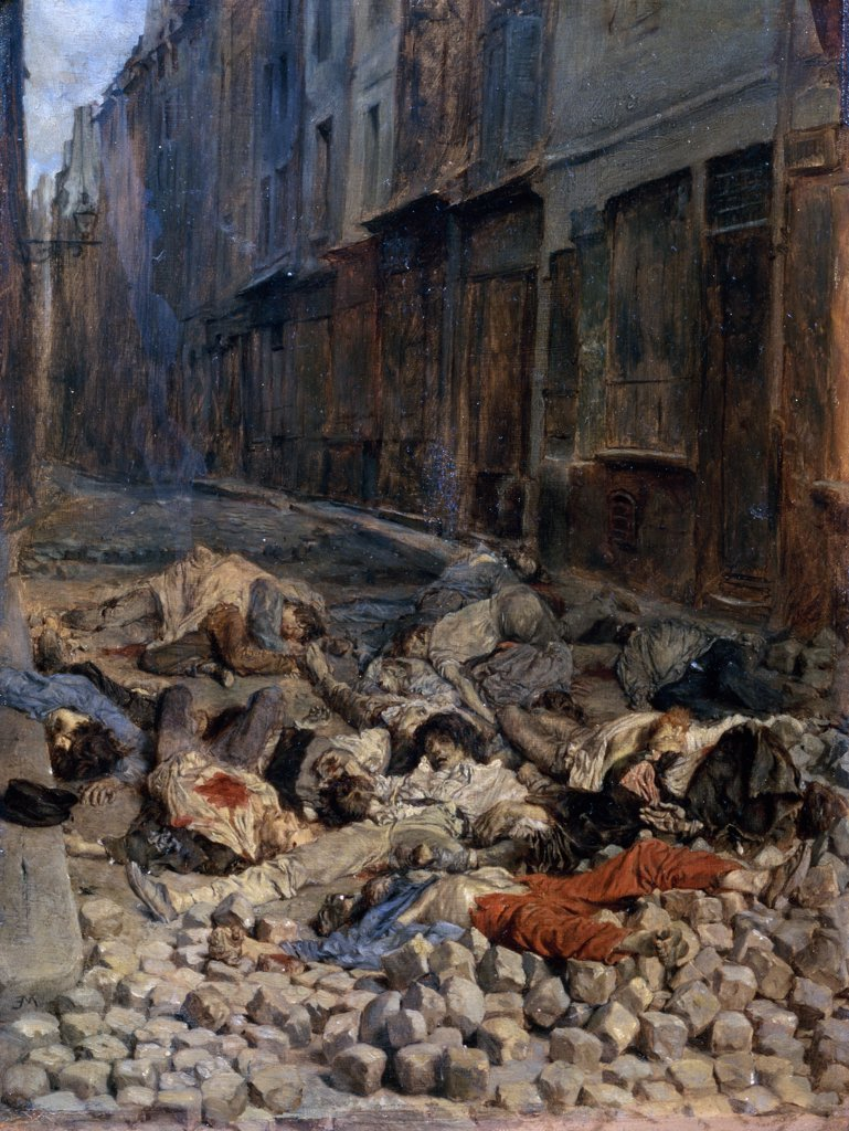 Stock Photo: 1158-1220 La Barricade, Rue De La Mortellerie 1848 