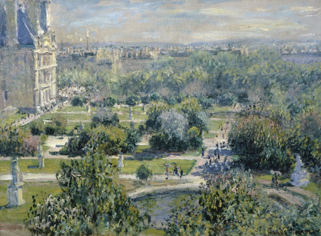 Stock Photo: 1158-1241 View of the Tuileries