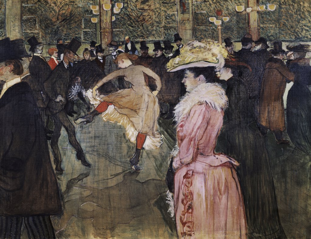 Stock Photo: 1158-1329 At the Moulin Rouge: The Dance