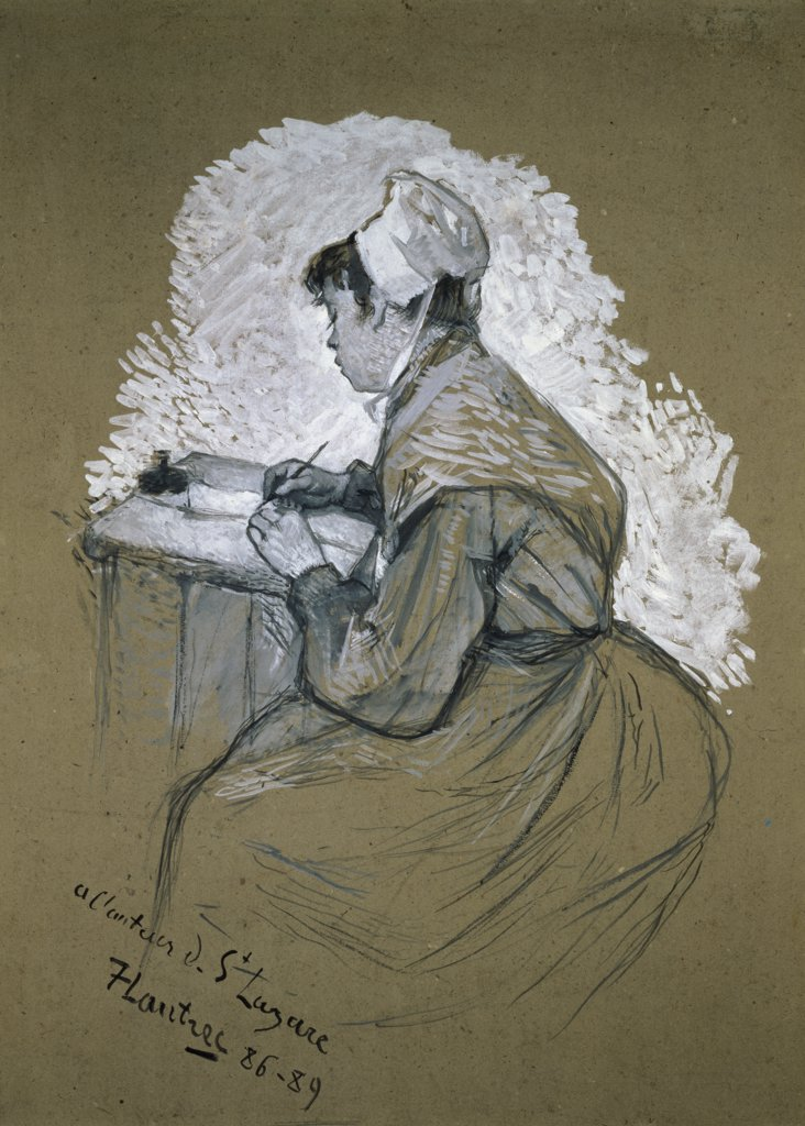 Stock Photo: 1158-1330 The Authoress of St. Lazare 