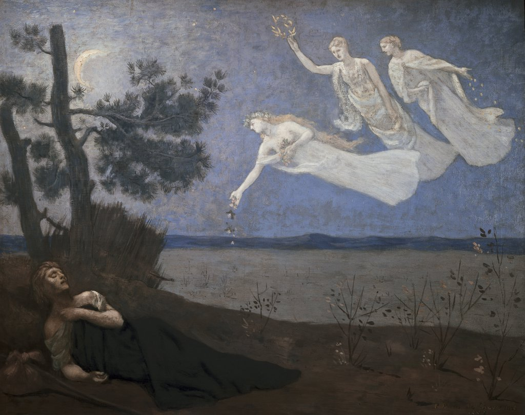 Stock Photo: 1158-1349 The Dream Le Reve 1883 Pierre Puvis de Chavannes (1824-1898 French) Musee d'Orsay, Paris, France