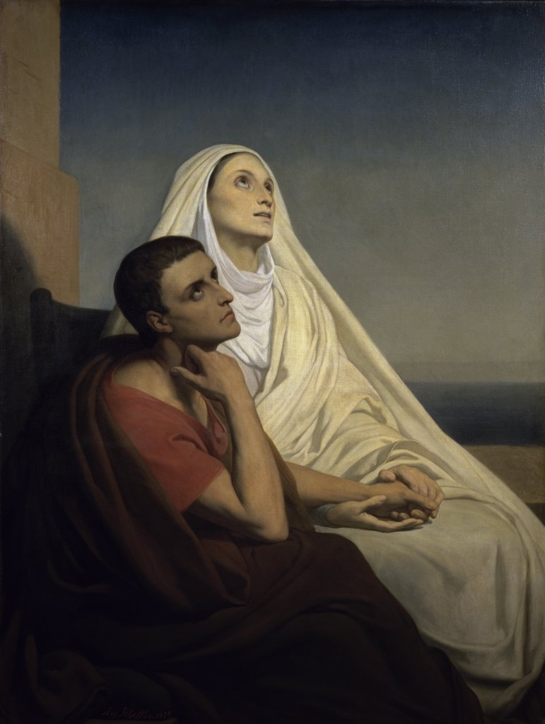Stock Photo: 1158-1351 Saint Augustine and Saint Monica 