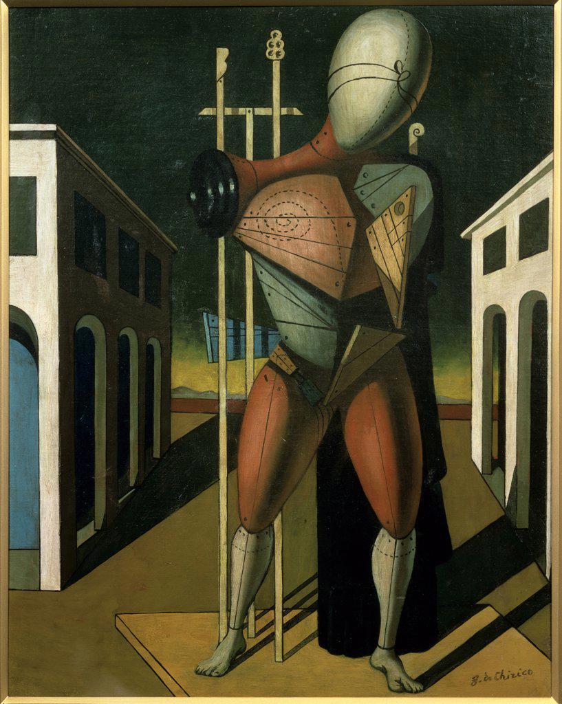 Stock Photo: 1158-1413 The Troubadour by Giorgio de Chirico, 1888-1978, Japan, Tokyo, Bridgestone Museum of Art