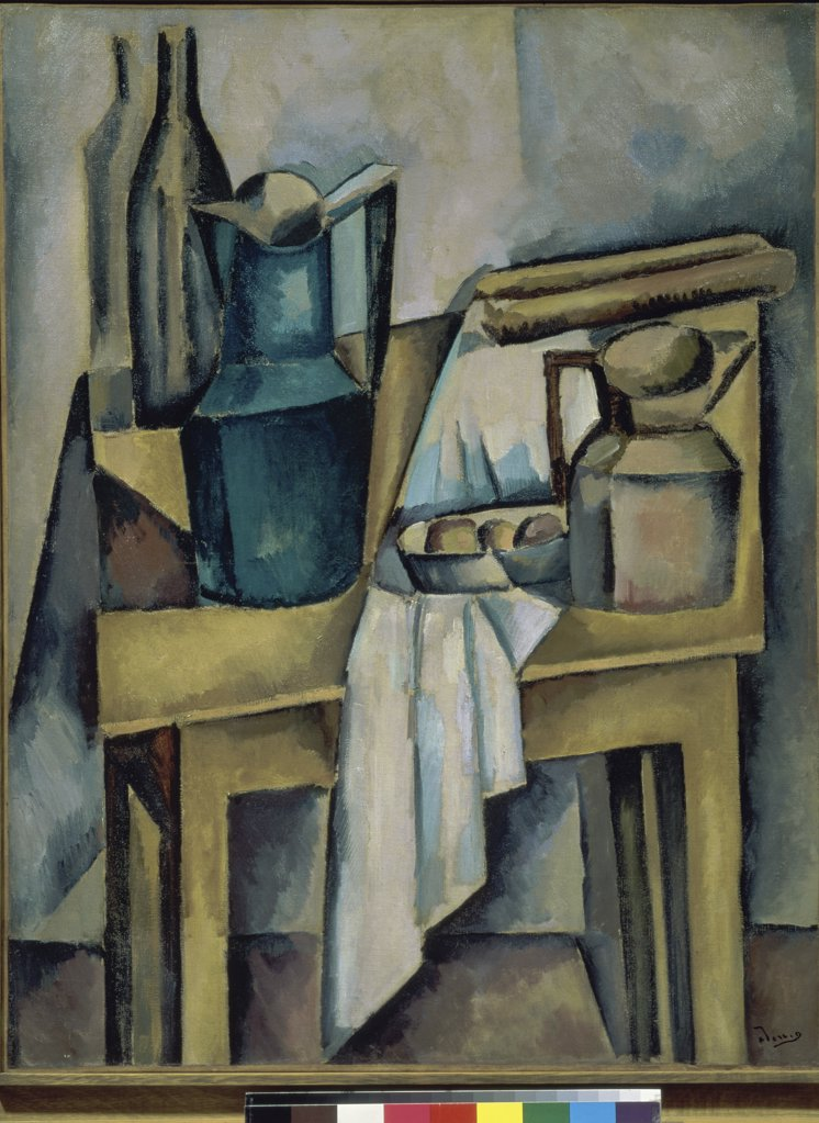 Stock Photo: 1158-1438 Still Life on the Table by Andre Derain, 1880-1954, France, Paris, Centre Georges Pompidou, Musee National d' Art Moderne