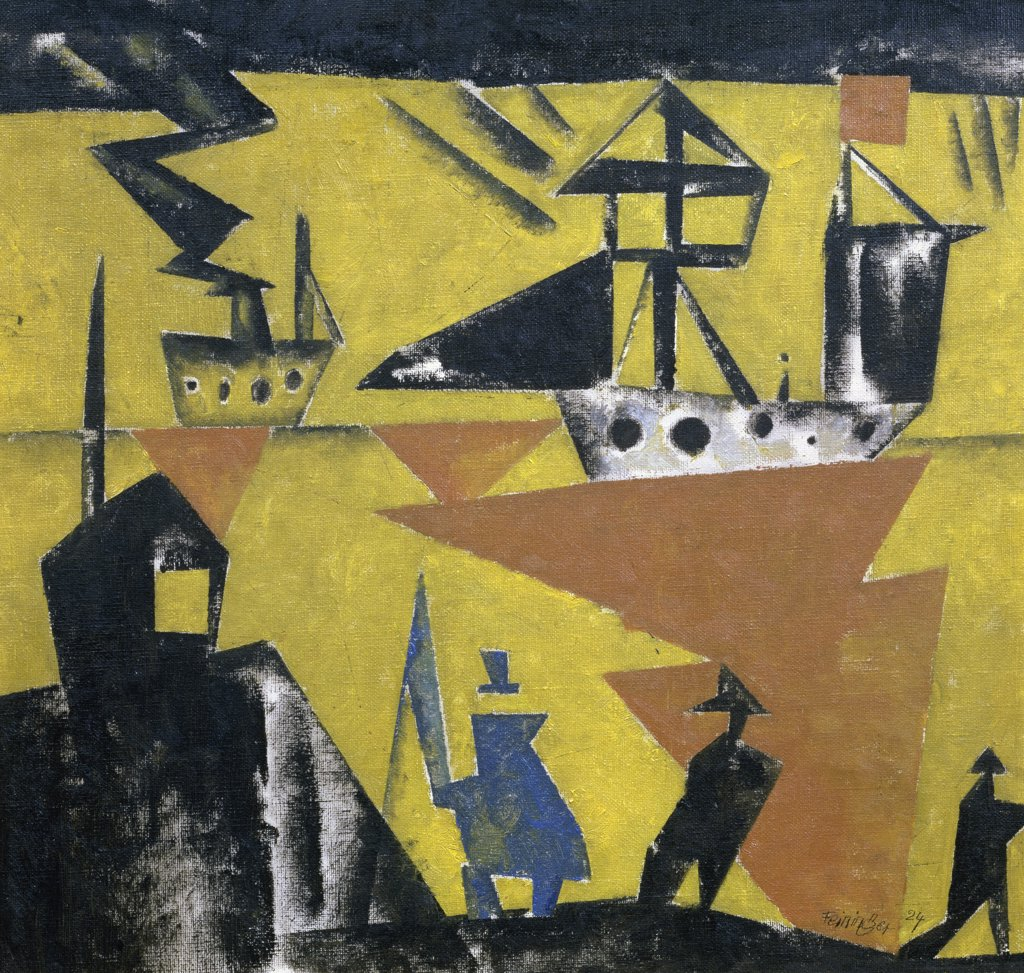 Marine by Lyonel Feininger, 1924, 1871-1956, France, Paris, Musee National d'Art de Moderne : Stock Photo