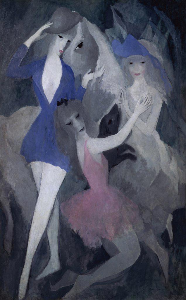 Stock Photo: 1158-1471 Composition: Danseuses Espagnoles by Marie Laurencin, 1883-1956, France, Paris, French Muse de l'Orangerie