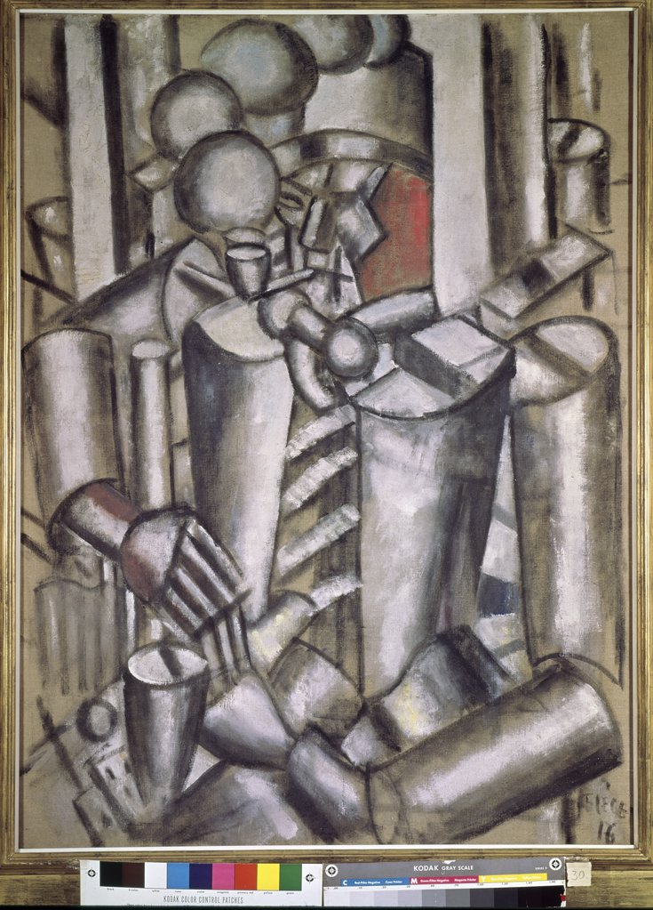 Stock Photo: 1158-1472 Le Soldat A La Pipe by Fernand Leger, 1881-1955, Germany, Dusseldorf Museum