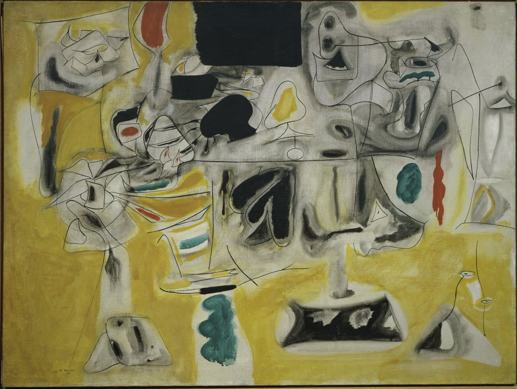 Stock Photo: 1158-1487 Landscape-Table by Arshile Gorky, 1945, France, Paris, Centre Georges Pompidou, Musee National d'Art Moderne