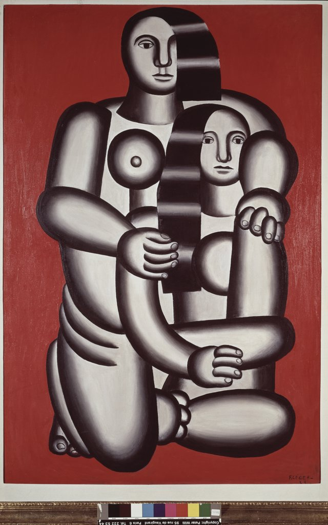 Stock Photo: 1158-1489 Nudes on a Red Background by Fernand Leger, 1923, 1881-1955, Switzerland, Musee de Bale