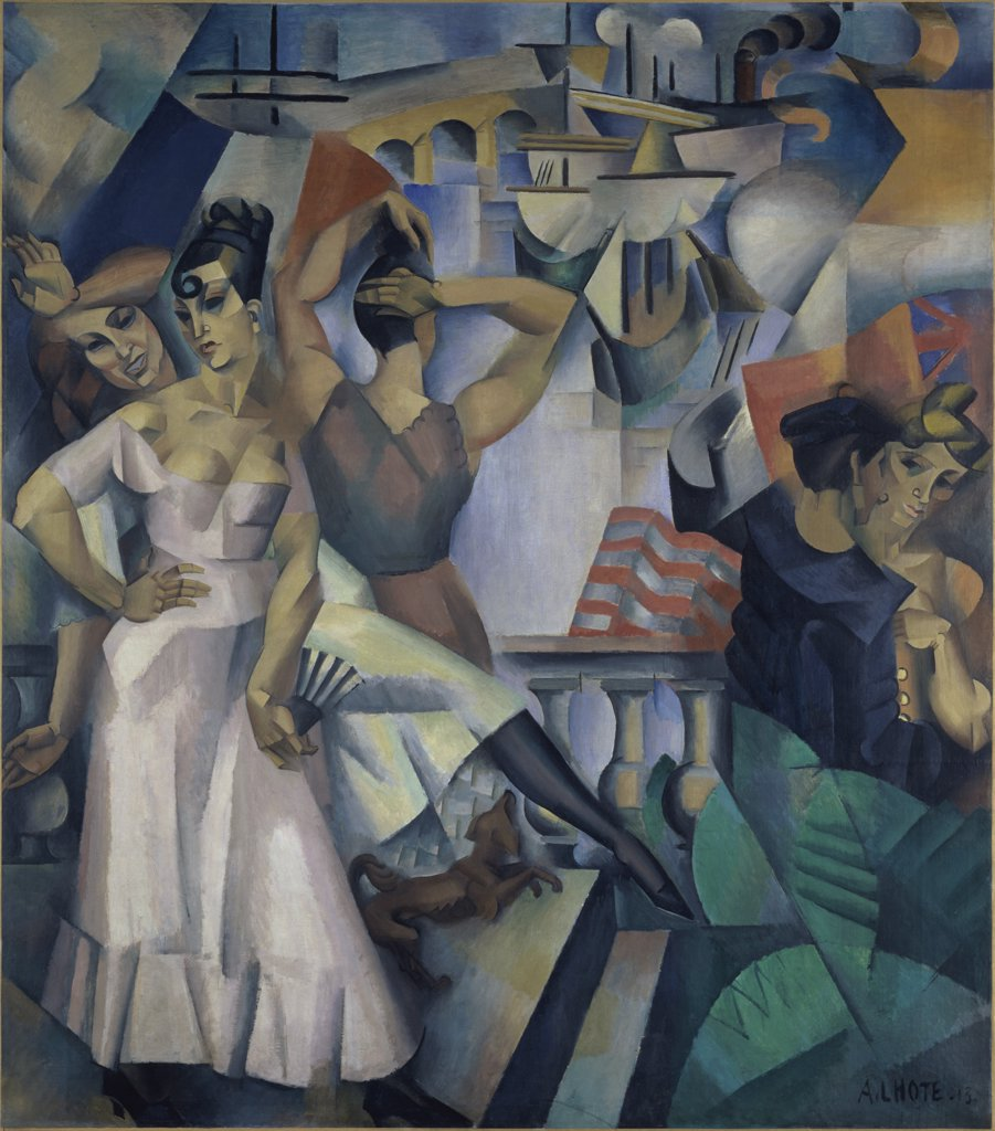 Stock Photo: 1158-1491 The Port of Call by Andre Lhote, 1913, 1885-1962, France, Paris, Musee National d'Art de Moderne
