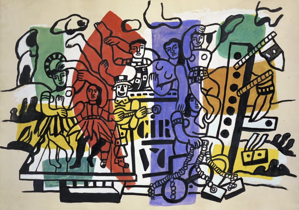 Stock Photo: 1158-1493 Le Cirque by Fernand Leger, 1881-1955, France, Paris, Collection Maeght