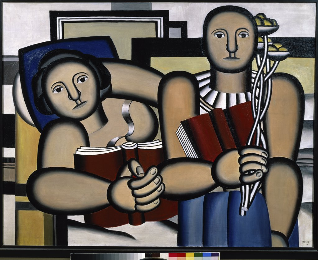 The Reader by Fernand Leger, 1924, 1881-1955, France, Paris, Musee National d'Art de Moderne : Stock Photo