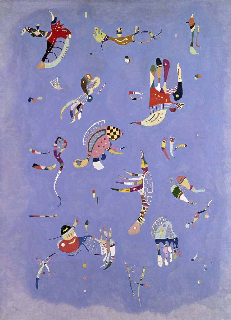 Stock Photo: 1158-1507 Blue Sky by Vasily Kandinsky, 1940, 1866-1944, France, Paris, Musee National d'Art de Moderne