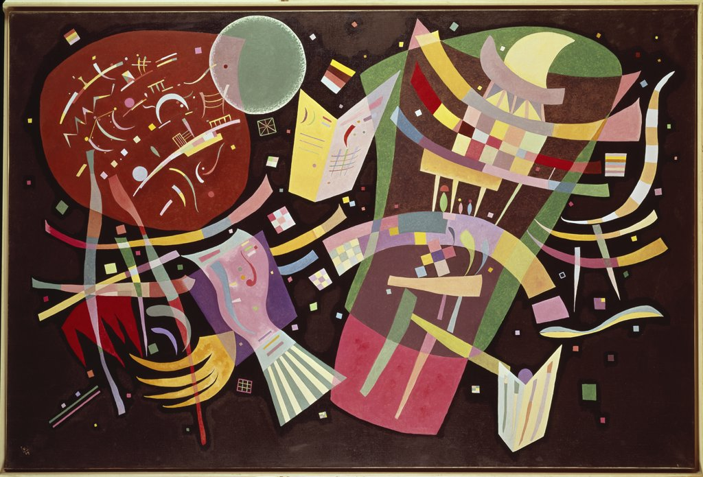 Composition 10 by Vasily Kandinsky, 1939, 1866-1944 Russian : Stock Photo