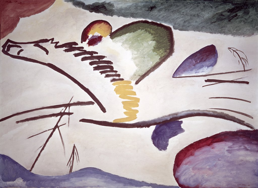 Stock Photo: 1158-1510 Lyrischs by Vasily Kandinsky, 1911, 1866-1944, Netherlands, Rotterdam, Museum Boijmans van Beuningen