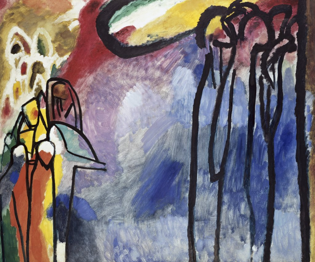 Improvisation 19 by Vasily Kandinsky, 1866-1944, Germany, Munich, Lenbachaus : Stock Photo