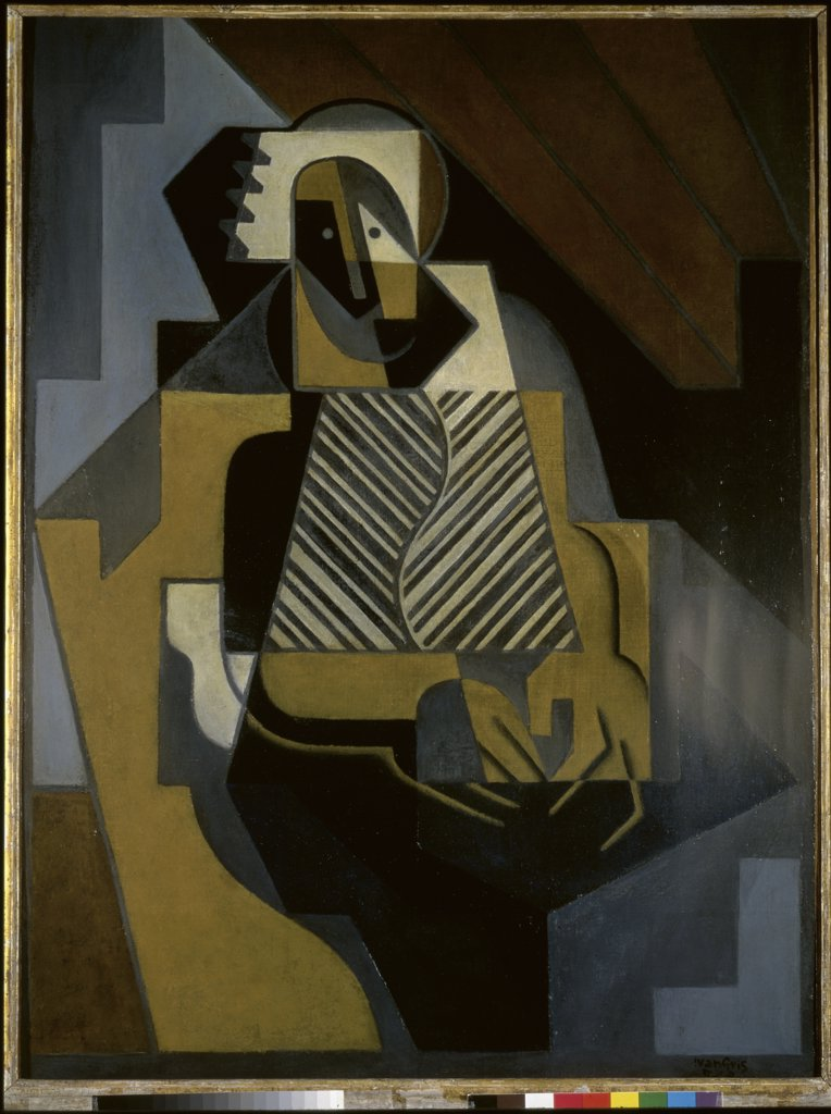 Stock Photo: 1158-1514 L'Ecossaise by Juan Gris, 1910, 1887-1927, Spain, Madrid, Spanish Private Collection