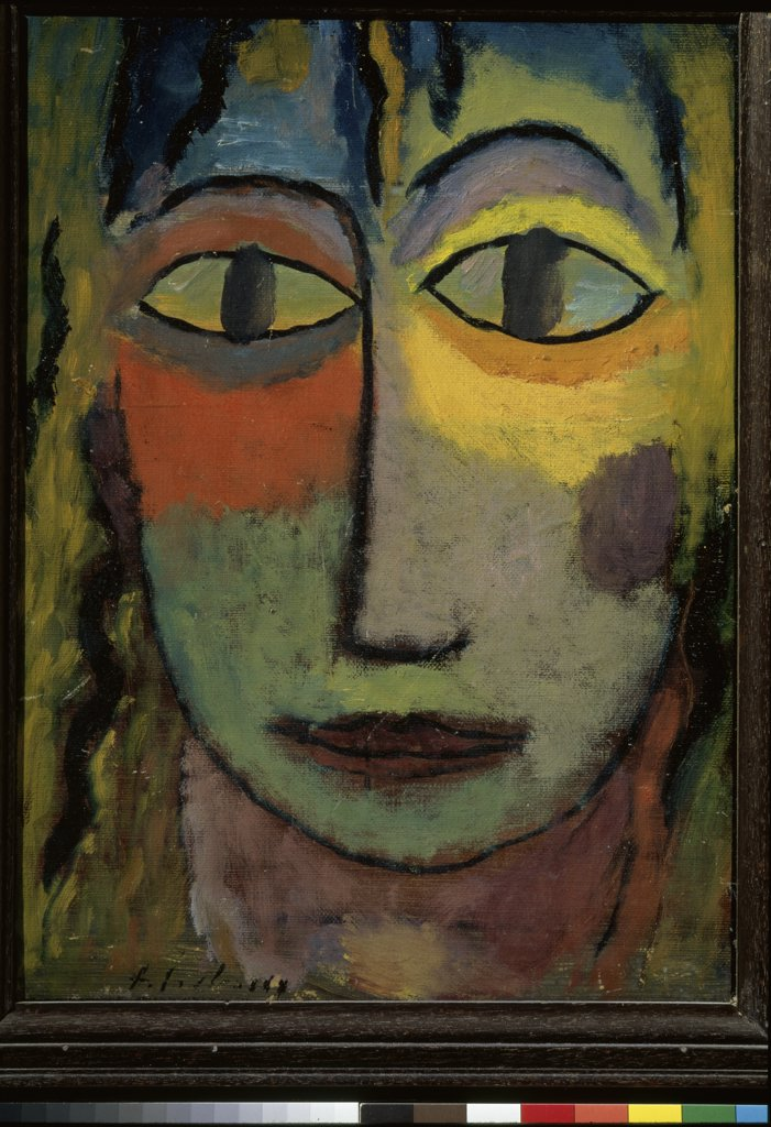 Stock Photo: 1158-1518 Head Of Medusa by Alexej von Jawlensky, 1923, 1867-1941, France, Lyon, Musee des Beaux-Arts