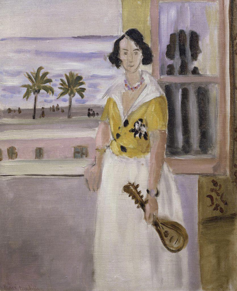 Femme a la mandoline a la fenetre by henri matisse 1869 for Matisse fenetre