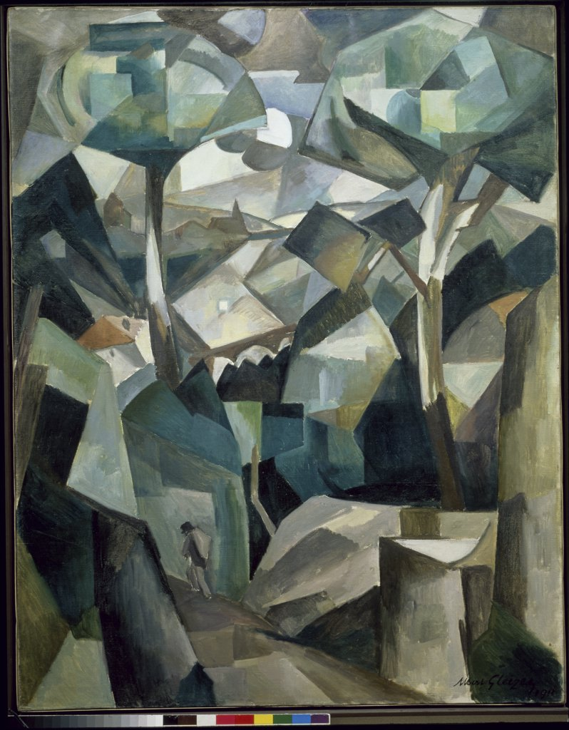 Paysage by Albert Gleizes, 1881-1953, France, Paris, Centre Georges Pompidou, French Musee National d' Art Moderne : Stock Photo