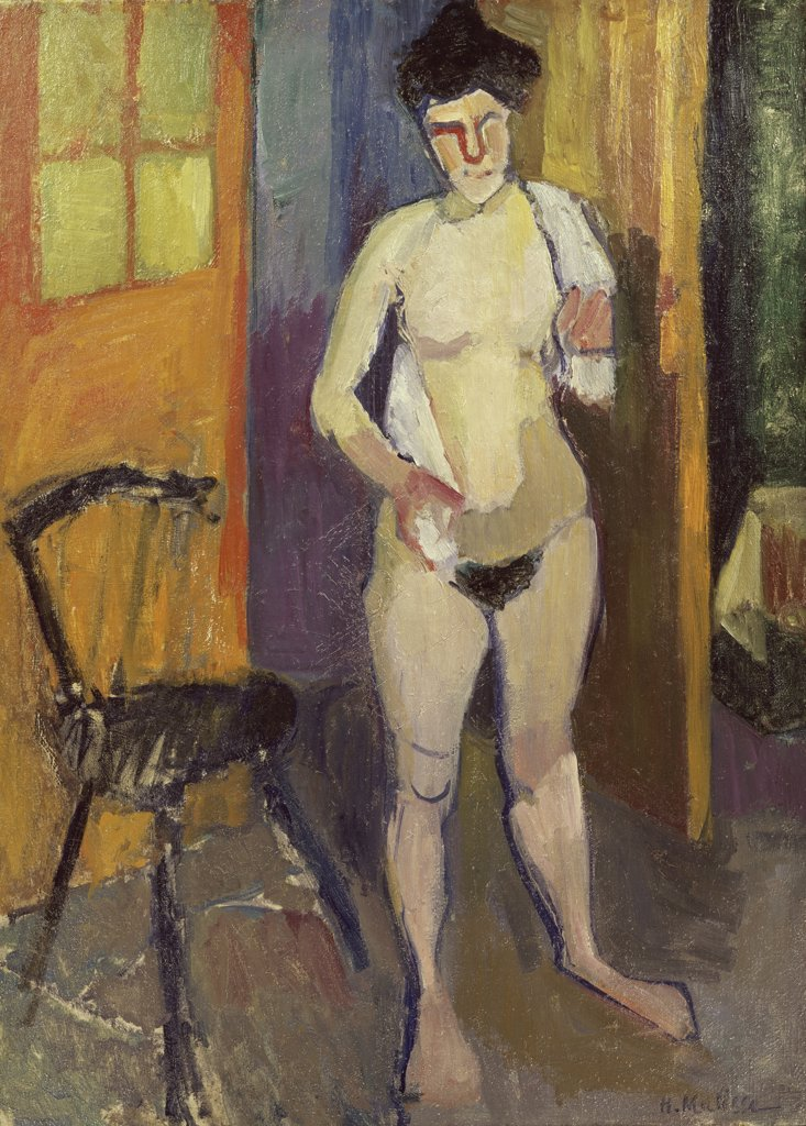 Nude With A White Towel by Henri Matisse, 1903, 1869-1954, USA, California, Los Angeles, Private Collection : Stock Photo