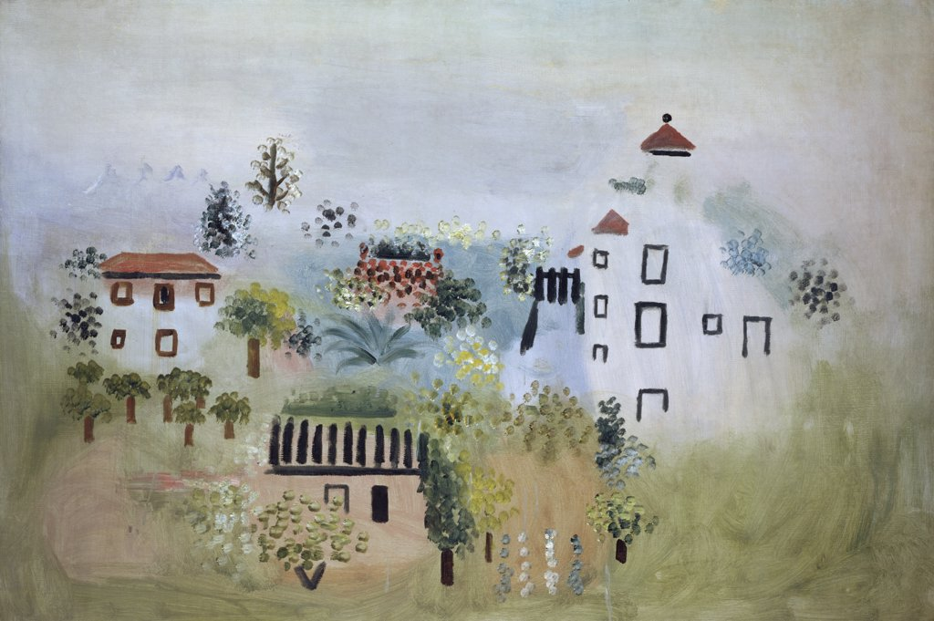 Stock Photo: 1158-1640 Landscape by Pablo Picasso, 1928, 1881-1973