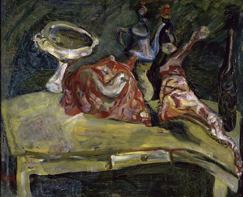 Stock Photo: 1158-1660 The Table by Chaim Soutine, 1893-1943, France, Paris, Musee de l'Orangerie