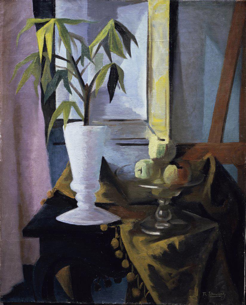 Still Life with Plants and Fruits by Theodore Stravinsky, born 1907, Switzerland, Geneva, Petit Palais : Stock Photo