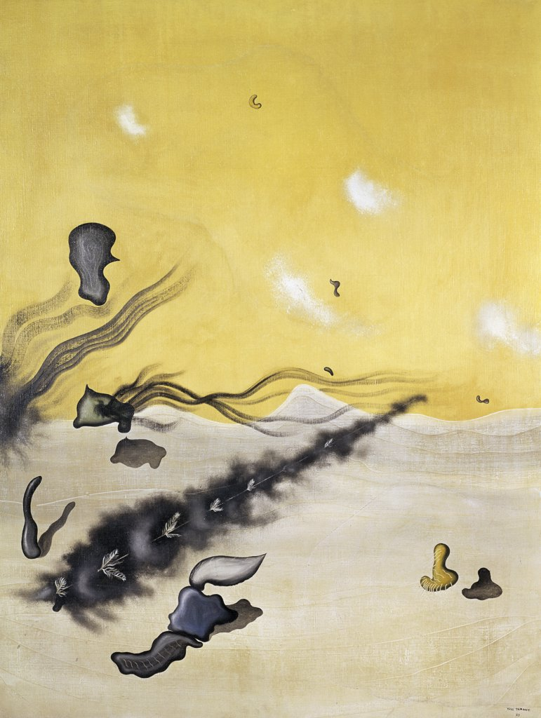 Stock Photo: 1158-1666 The More We Slumber by Yves Tanguy, 1929, 1900-1955, France, Paris, Collection of Simone Collinet