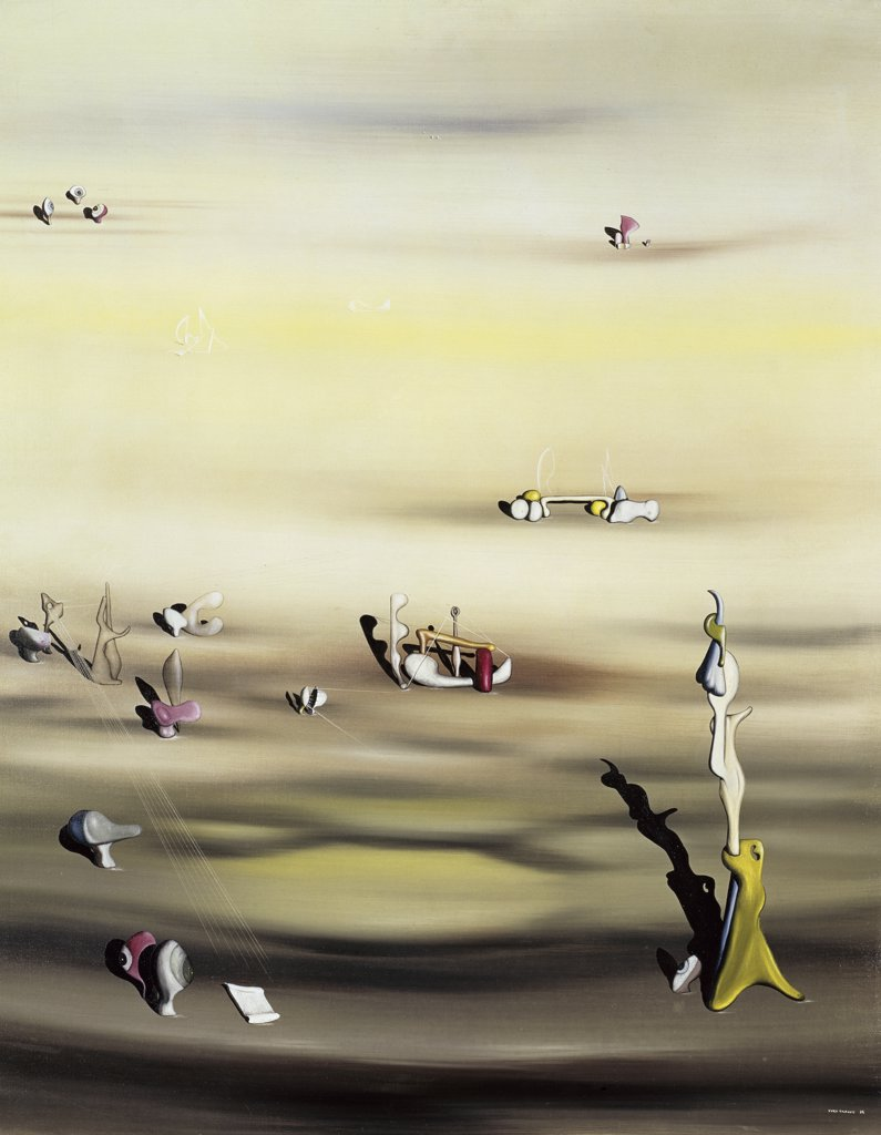 Stock Photo: 1158-1667 The Extinction of the Species II by Yves Tanguy, 1938, 1900-1955, Collection of Patricia Kane Matisse