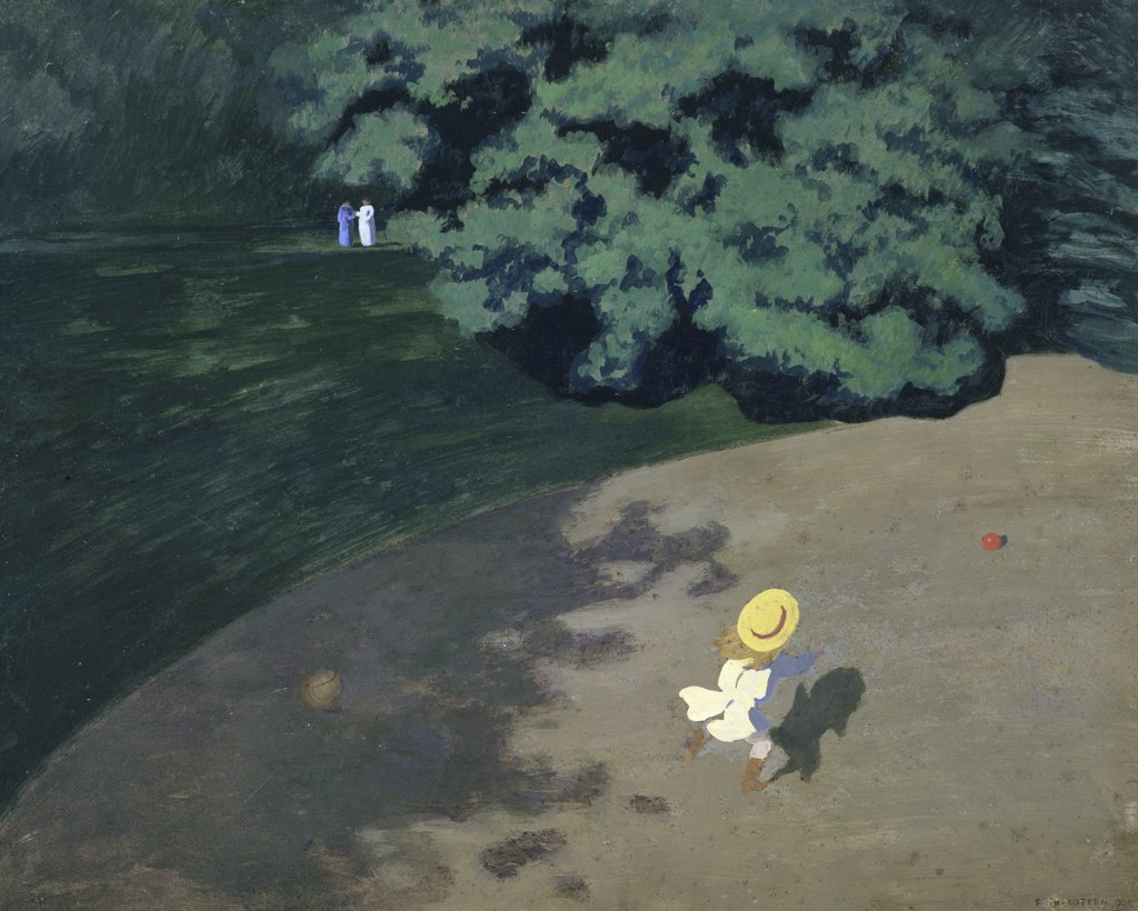 Stock Photo: 1158-1678 The Ball (Corner of the Park, Child Playing With Ball)