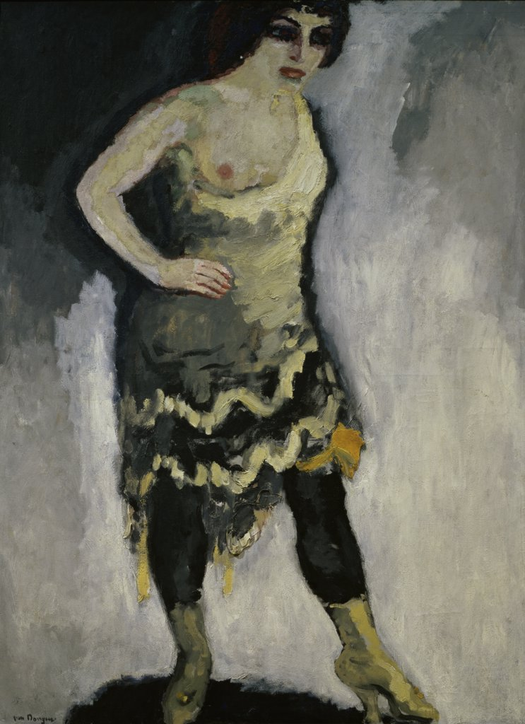Performer with a Nude Breast by Kees van Dongen, 1877-1968, France, Paris, Musee National d'Art Moderne : Stock Photo