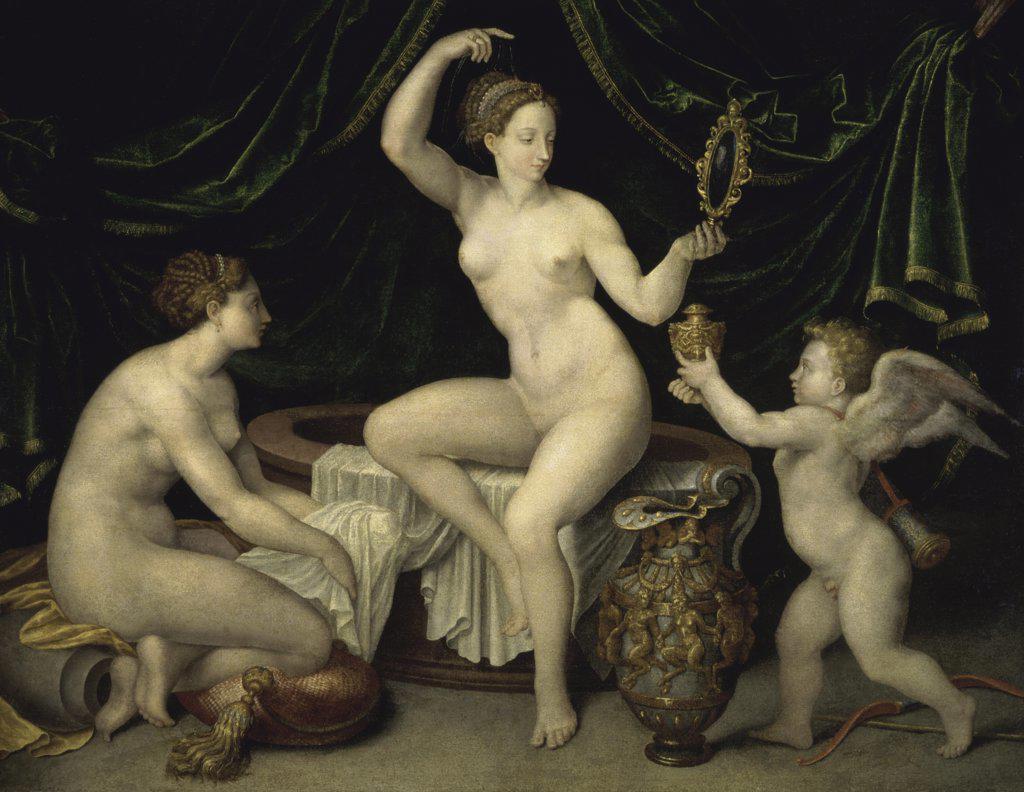 Venus and Cupid Venus et L'Amour Artist Unknown Musee du Louvre, Paris : Stock Photo
