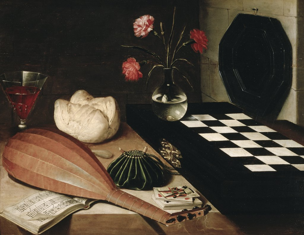 Stock Photo: 1158-1697 Still Life with a Chess-Board  