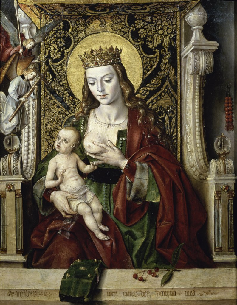 Stock Photo: 1158-1698 The Virgin Nursing the Child 