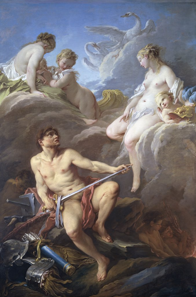 Stock Photo: 1158-1708 Venus Requesting Arms for Aeneas From Vulcan 