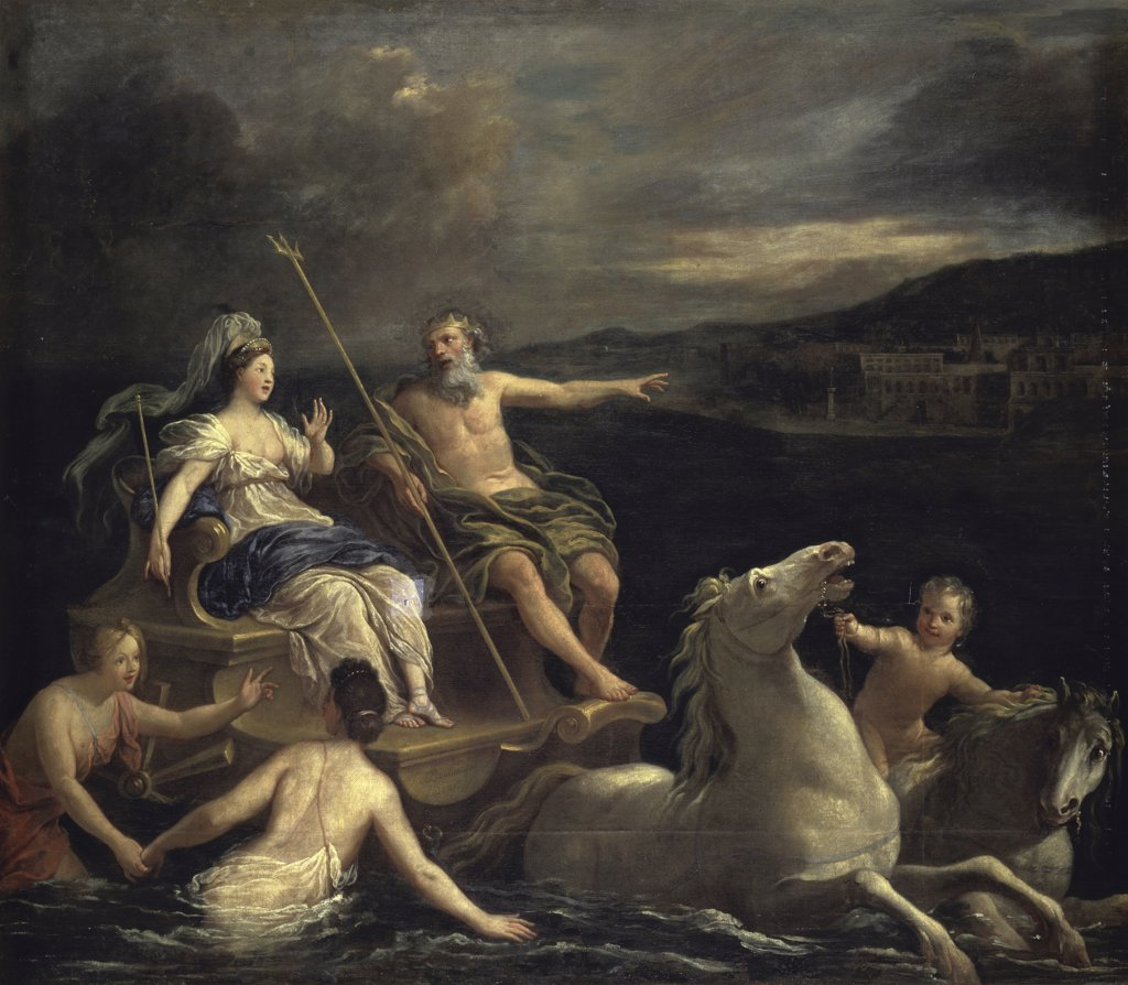 Triumph of Neptune Bon Boullogne (1649-1717 French)  Musee des Beaux Arts, Tours, France : Stock Photo