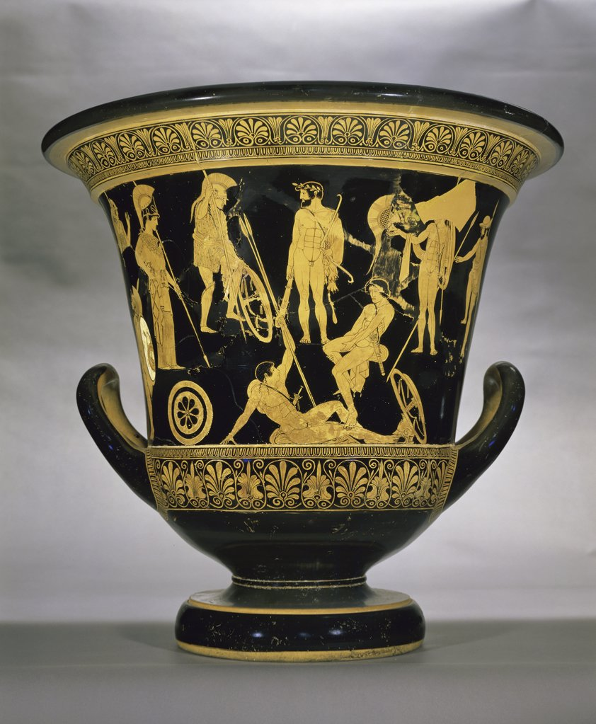 Stock Photo: 1158-1745 Krater: Red-Figure Footed  Painter of the Niobides  Greek Art  Musee du Louvre, Paris