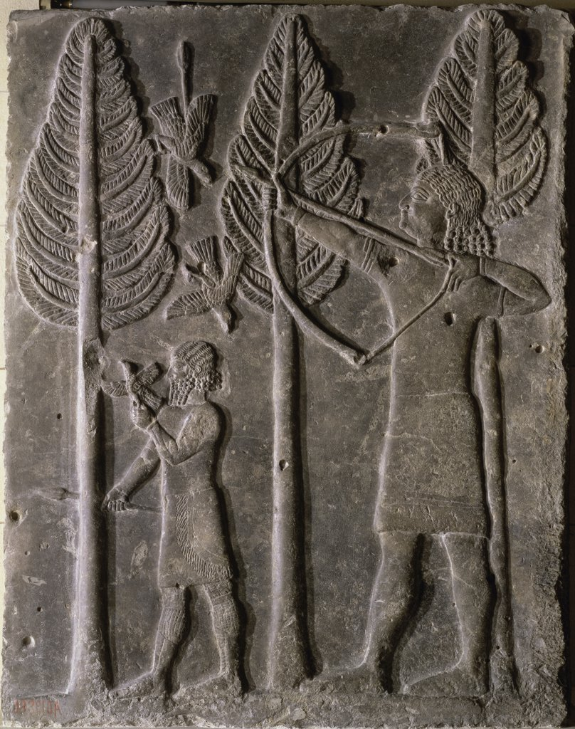 Stock Photo: 1158-1759 Relief:  Hunting Scene 