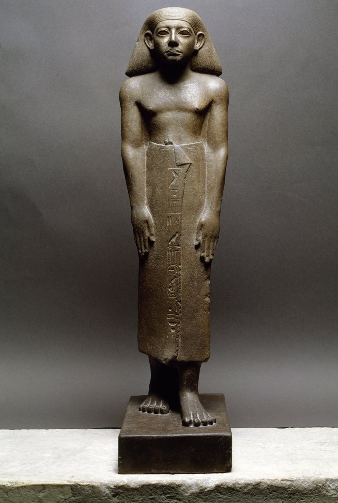 Statue of the Chief of the Prophets, France, Paris, Musee du Louvre : Stock Photo