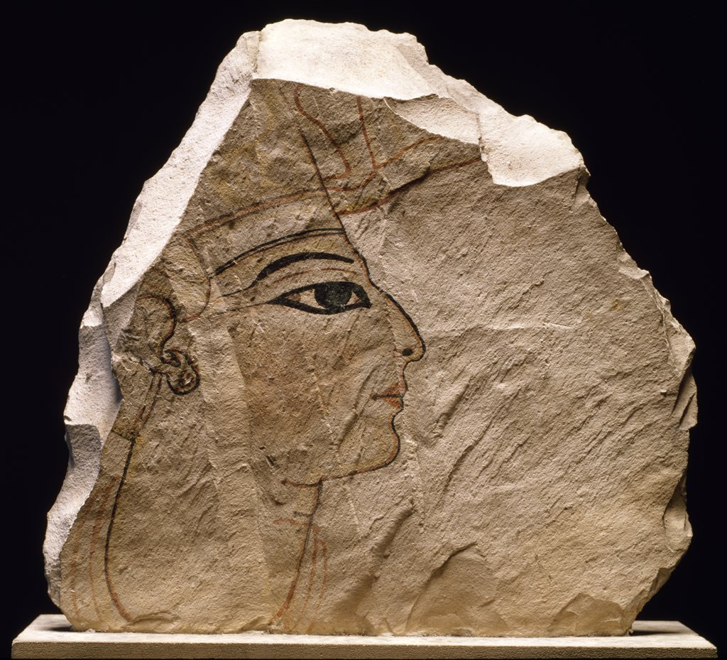 Stock Photo: 1158-1777 Head of the Pharaoh, France, Paris, Musee du Louvre