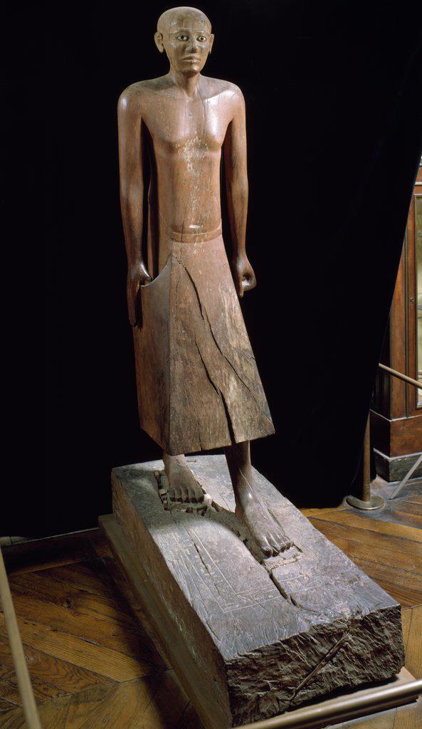 Stock Photo: 1158-1783 Chancellor Nakhti, sculpture, France, Paris, Musee du Louvre