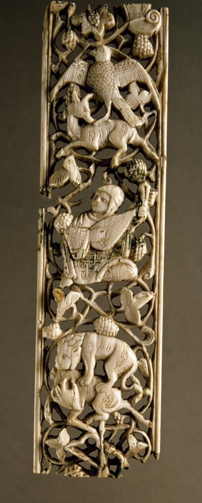 Stock Photo: 1158-1784 Plaque of Ivory, France, Paris, Musee du Louvre