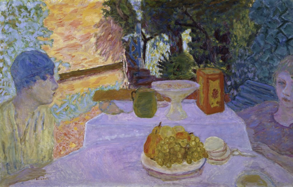 Stock Photo: 1158-1842 The Breakfast by Pierre Bonnard, 1867-1947, Akram Ojjeh Collection