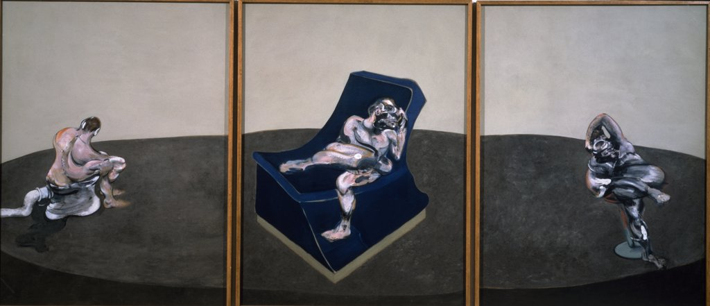 France, Paris, Centre Georges Pompidou, Musee National D' Art Moderne, Three People in One Piece by Francis Bacon, 1964, (1909-1992) : Stock Photo