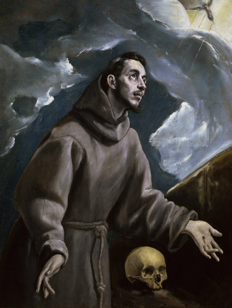 Stock Photo: 1158-1893 St. Francis Receiving the Stigmata
